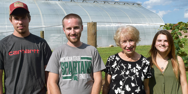 SMC agriculture scholarship recipients meet Mrs. Wuszke